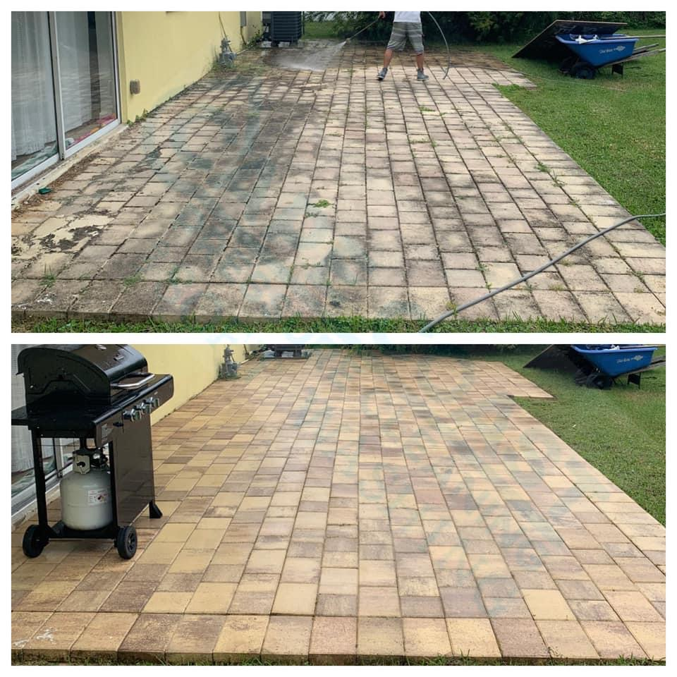 Photo number 12 of Cape Coast Pressure Cleaning & Soft Washing's best work performing a Paver sealing job