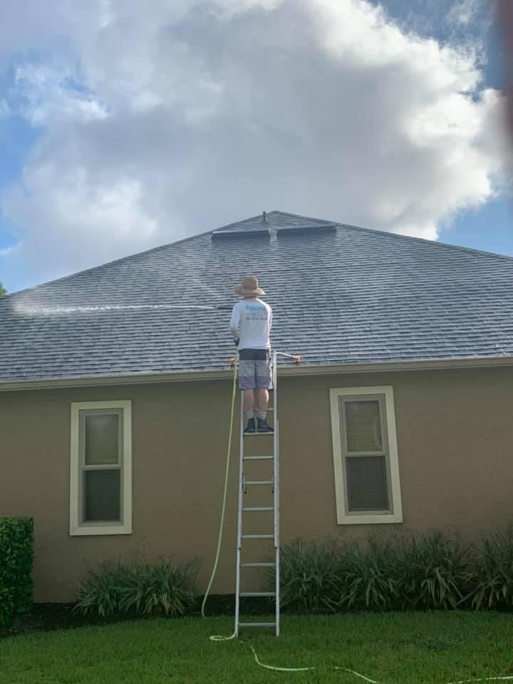 Photo number 19 of Cape Coast Pressure Cleaning & Soft Washing's best work performing a Roof cleaning job
