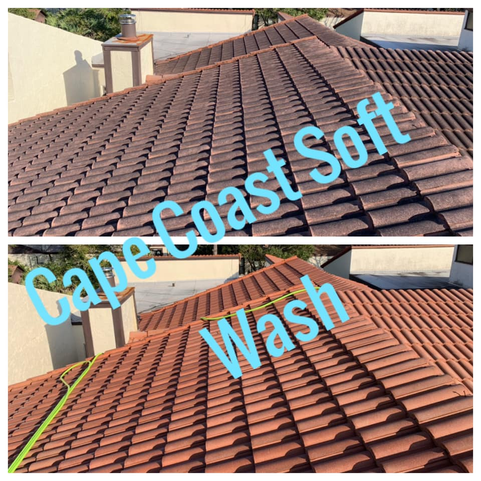 Photo number 8 of Cape Coast Pressure Cleaning & Soft Washing's best work performing a Roof cleaning job