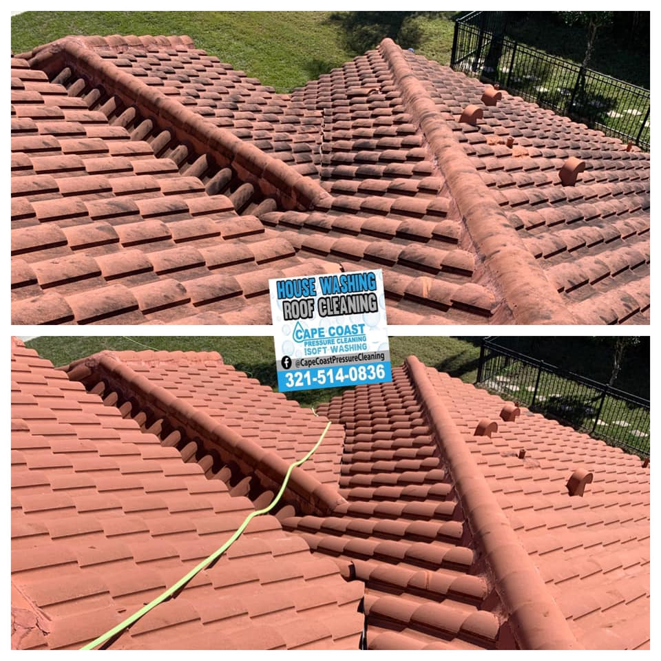 Photo number 7 of Cape Coast Pressure Cleaning & Soft Washing's best work performing a Roof cleaning job