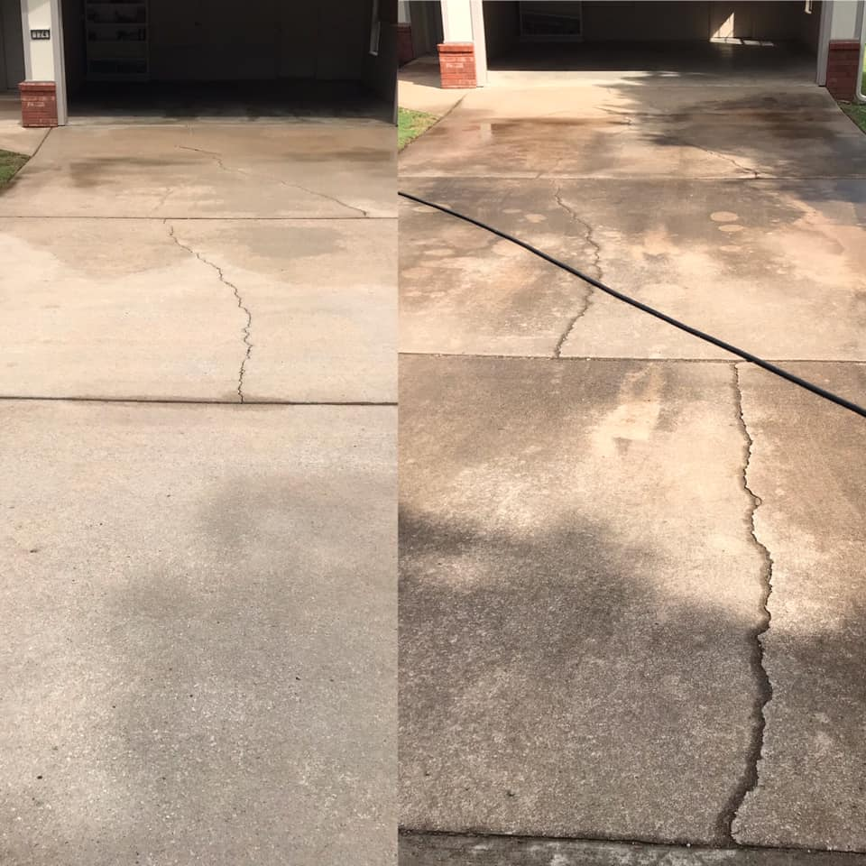 Photo number 2 of Hydro Diamond Pressure Washing's best work performing a Concrete Cleaning job
