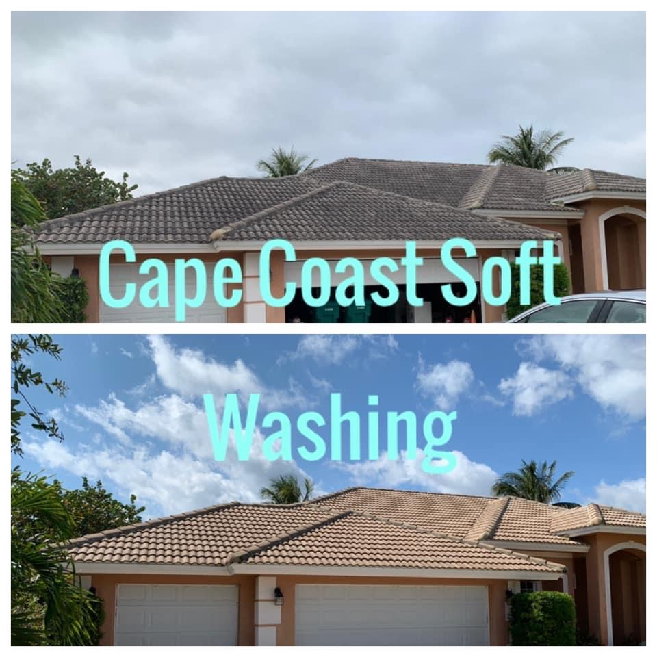 Photo number 16 of Cape Coast Pressure Cleaning & Soft Washing's best work performing a Roof cleaning job